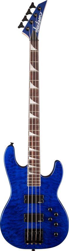JACKSON JS3 Concert™ Bass Electric Guitar Transparent Blue | Small White Mouse