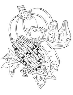 Free Printable Fall Coloring Page autumn leaves Applique