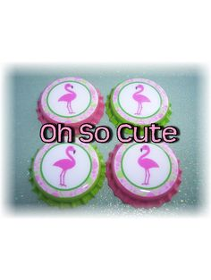 OhSoCute 4 Pink Flamingo bottle caps, bow centers, jewelry, party favors. $3.00, via Etsy. Pink Flamingo Party, Flamingo Birthday, Pink Flamingos, My Little Girl, Love Food, Party Favors, Bows, Bottle Caps, Jewelry Party