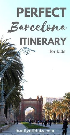 The ultimate guide for things to do with kids in Barcelona - This is a very family-friendly city. There is plenty of activities in Barcelona for the whole family. | Join us on one of our Kid's Tours for an authentic experience, tailored to your family's needs | devourbarcelonafoodtours.com/tours?utm_content=buffer53172&utm_medium=social&utm_source=pinterest.com&utm_campaign=buffer