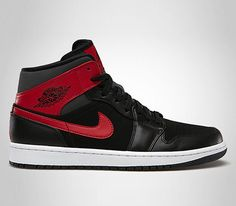 0ac94c214e6f6e Air Jordan I Mid - Black Gym Red - Anthracite (Lipiec 2013). Best  SneakersSneakers FashionPopular SneakersJordan SneakersNike ...