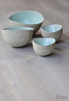 Ceramics from Water Stories - Tri Lukne Ceramic Pinch Pots, Ceramic Clay, Ceramic Bowls, Ceramic Pottery, Slab Pottery, Earthenware, Stoneware, Keramik Design, Clay Bowl