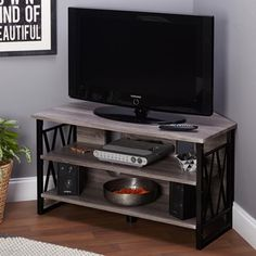 $170 Simple Living Seneca Corner TV Stand - Overstock™ Shopping - Great Deals on Simple Living Entertainment Centers