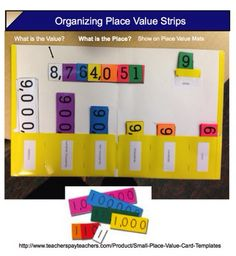 Great hands on idea for teaching place value!