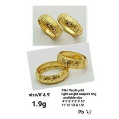 Shopee Gold Wedding Rings, Gold Rings, Couple Rings, 9 And 10, Best Sellers, Bracelet Watch, Bracelets, Accessories, Jewelry