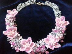 "Колье из бисера. ""Сакура"". Часть 1/Necklaces of beads. ""Sakura"". Part 1"