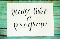 noteworthy&blue: new wedding signs