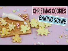 Miniature Christmas Cookie Baking Scene Tutorial