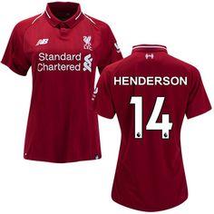 Jordan Henderson  14 Women s 2018 2019 Soccer Liverpool FC Home Jersey Red 8d096da01
