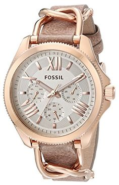 Fossil Women's AM4620 Cecile Multifunction Stainless Steel and Leather Watch - Rose and Bone Fossil http://www.amazon.com/dp/B00PW3HASU/ref=cm_sw_r_pi_dp_MzVbvb146W6ND