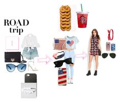 """""""roadtrip"""" by ladyboutte on Polyvore featuring T By Alexander Wang, Johanna Ortiz, Chicnova Fashion, Alexandre Birman, Forever 21, Jimmy Choo, TWIG & ARROW, Charlotte Russe, Ray-Ban and Casetify"""