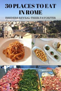 Where to eat when you travel to Rome? Add list of 30 places to eat in Rome to your Italy travel plans. #italytravel