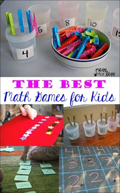 These are the best math games for kids that we have tried. My kids had so much fun, they didn't realize they were learning!