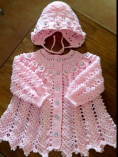 Crochet Pattern for Baby Dress --- Apple Blossom Baby Girl Dress Crochet Baby Sweaters, Crochet Vest Pattern, Crochet Baby Cardigan, Baby Girl Sweaters, Crochet Coat, Baby Girl Crochet, Crochet Baby Clothes, Baby Knitting Patterns, Baby Patterns