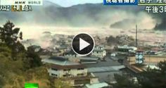 Ondas devastadoras do tsunami do Japão filmadas num helicóptero | Viral Video