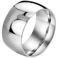 Men,Women's Wide 11mm Stainless Steel Ring Band Silver Classic Wedding Polished - http://www.jewelryfashionlife.com/menwomens-wide-11mm-stainless-steel-ring-band-silver-classic-wedding-polished/