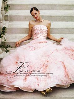 I almost picked a pink wedding dress