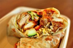There's a LA Panda Express that's now doing orange chicken burritos