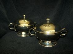 Pair of Silver Chafing Dishes, Hand Made from India by CharliesRustics on Etsy