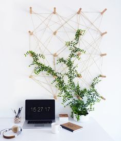 Diy: un tablero de clavijas para plantas - Black Confetti, Kitchen Pegboard, Ikea Pegboard, Painted Pegboard, Pegboard Garage, Pegboard Display, Pegboard Organization, Black Pegboard, Plantas Indoor, Study Room Design