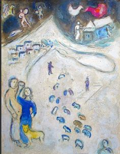 Marc Chagall - Winter, from Daphnis and Chloe, 1961
