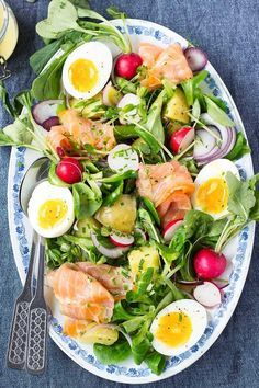 Spring Salmon Salad - serve this for lunch or dinner or to feed a crowd!