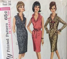 Hey, I found this really awesome Etsy listing at https://www.etsy.com/listing/219337688/simplicity-5735-vintage-1960s-womans