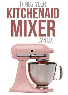 Things Your KitchenAid Mixer Can Do - this kitchen appliance is a master multi-tasker! It makes ice cream, sausage, pasta and so much more. You may be surprised at the things your KitchenAid Mixer can do! This is one awesome multi-tasking small appliance. Kitchen Aid Recipes, Kitchen Hacks, Kitchen Gadgets, Cooking Recipes, Kitchen Appliances, Cooking Hacks, Skillet Recipes, Cooking Tools, Kitchen Tools