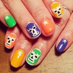 覆面レスラーネイル #avarice #art #nails #nailart #nailsalon #sao #design #Wrestler (NailSalon AVARICE)