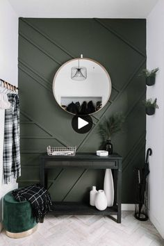 cheap home decor Amazing budget-friendly DIY projects for the modern home. These easy modern home decor ideas can transform the look of your home. They are cheap projects that dont look cheap! Like this beautiful wood feature wall tutorial! Diy Casa, Cute Dorm Rooms, Deco Design, Cheap Home Decor, Green Home Decor, Decoration Home, Olive Green Decor, Cheap Home Furniture, Dark Furniture