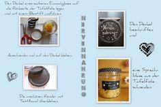 Nervennahrungsglas / Comfort food jar Food Jar, Bottle Opener, Barware, Canning, Corning Glass, Tumbler