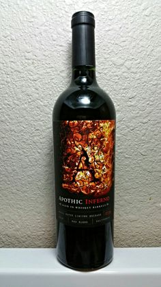 Apothic Inferno Red Blend Wine, Aged in Whiskey Barrels Wine Drinks, Alcoholic Drinks, Beverages, Red Blend Wine, Red Wine, Sonoma Wineries, Growing Grapes, Cheap Wine, Wine List