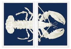 One Kings Lane - Bring the Outdoors In - Azul Langosta I Diptych