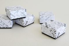 5 wedding favor boxes . wedding words1