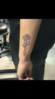 Rose Tattoos With Words Tattoo Ideas - Rose tattoos with words & rosentattoos mit worten & tatouages roses avec des - Mini Tattoos, Bff Tattoos, Word Tattoos, Cute Tattoos, Body Art Tattoos, Sleeve Tattoos, Small Tattoos, Temporary Tattoos, Tattos