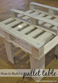 Great tutorial on how to make your own table using 2 wood pallets