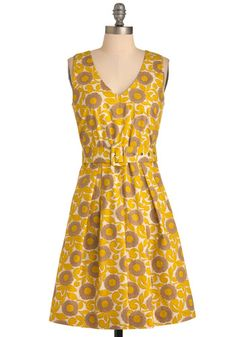 Mustard the Art of Style Dress. And yellow is so in right now! :)