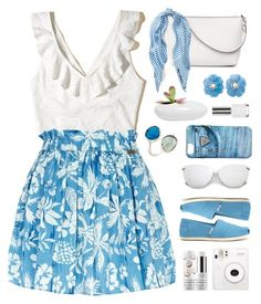 """Hawaii TS 6/27"" by countrycousin ❤ liked on Polyvore featuring Hollister Co., River Island, TOMS, Fuji, Sephora Collection, GUESS, Dot & Bo, Helen Ringus and Topshop"