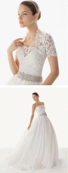 love the lace short cardigan - Rosa Clara Wedding Dress 2012 Collection