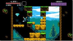 Shovel Knight is an indie game that was released in June 2014, with visuals and difficulty that are reminiscent of SNES titles. It features a more diverse color palette, however.