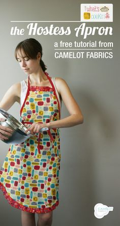 Free Projects | Hostess Apron Tutorial | What's Cookin' by Allison Cole for Camelot Fabrics