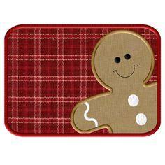 gingerbread mug rug - Google Search                                                                                                                                                     More