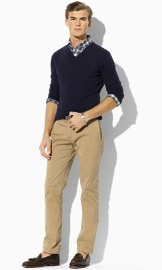 Cashmere V-Neck Sweater - Polo Ralph Lauren V-Neck - RalphLauren.com