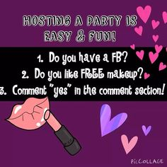Sharing your love of something online is natural, jut like Younique cosmetics and virtual parties are the fastest way to share that love with your friends. 3d Fiber Lashes, 3d Fiber Lash Mascara, Mua, Younique Presenter, Facebook Party, Lip Stain, Stay Young, Love Is Free, Host A Party