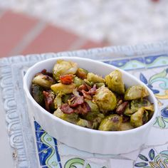 Easy Bacon Brussels Sprouts