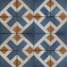 470 Antique Blue and Yellow Tiles