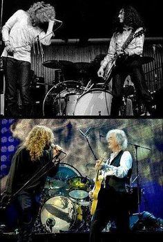 Robert Plant & Jimmy Page, 1969 / 2007 (via ClassicPics on Twitter)