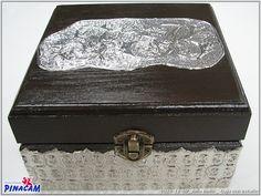 Caja decorada con estaño por Julia, #manualidades #pinacam #estaño #aluminio                                  www.manualidadespinacam.com
