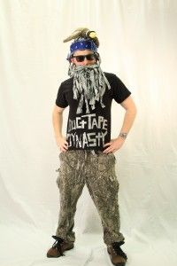 Duct Tape Dynasty. (Made this duct tape beard and wig for a work contest this year). #halloween #costume #duckdynasty #ducttape