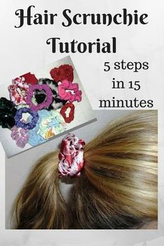 Creating my way to Success: Hair Scrunchie tutorial - 5 steps in 15 minutes